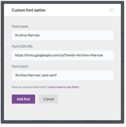 Using custom fonts in BEE Pro – BEE support